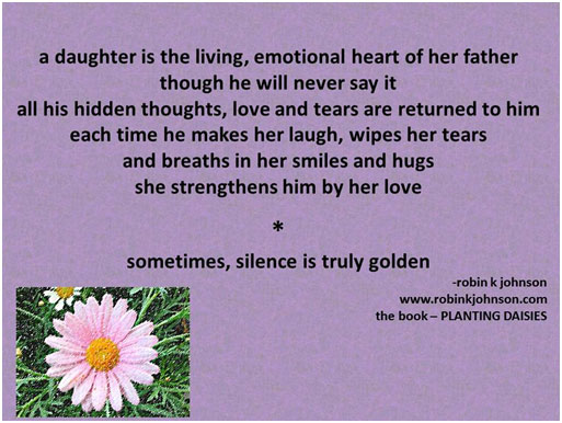 a daughter is a living, emotional heart of her father