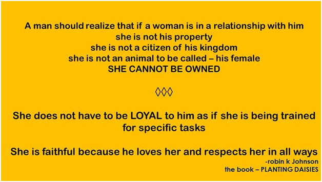 a man should realize that if a woman is in a relationship with him