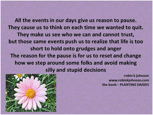 all the events in our days gives us reason to pause